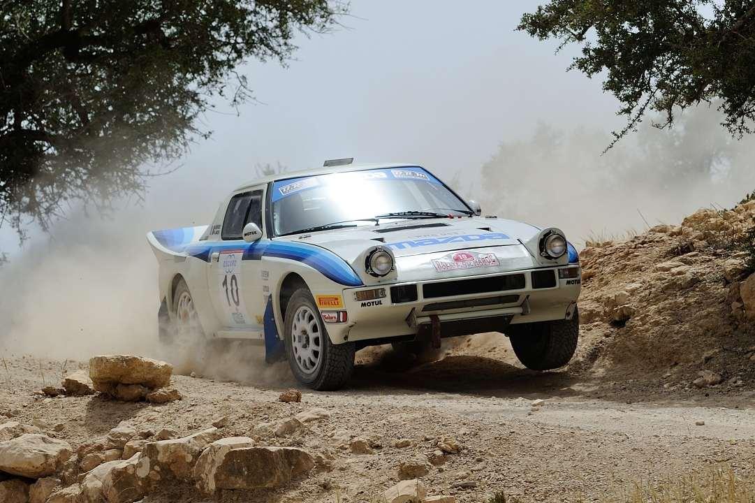 Deux RX7 au Maroc Historic Rally